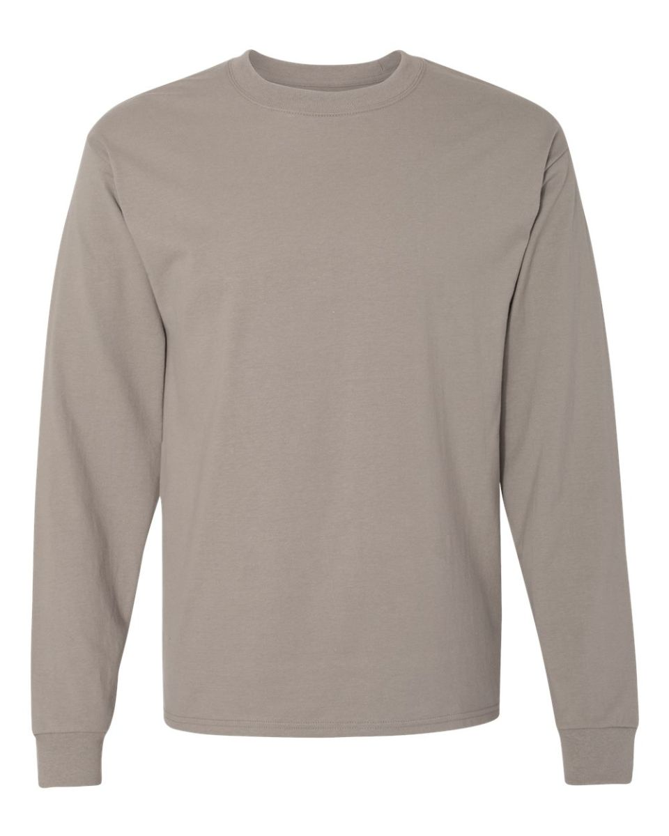 645458ea ... 5186 Hanes 6.1 oz. Ringspun Cotton Long-Sleeve Beefy-T® Vintage Grey ...