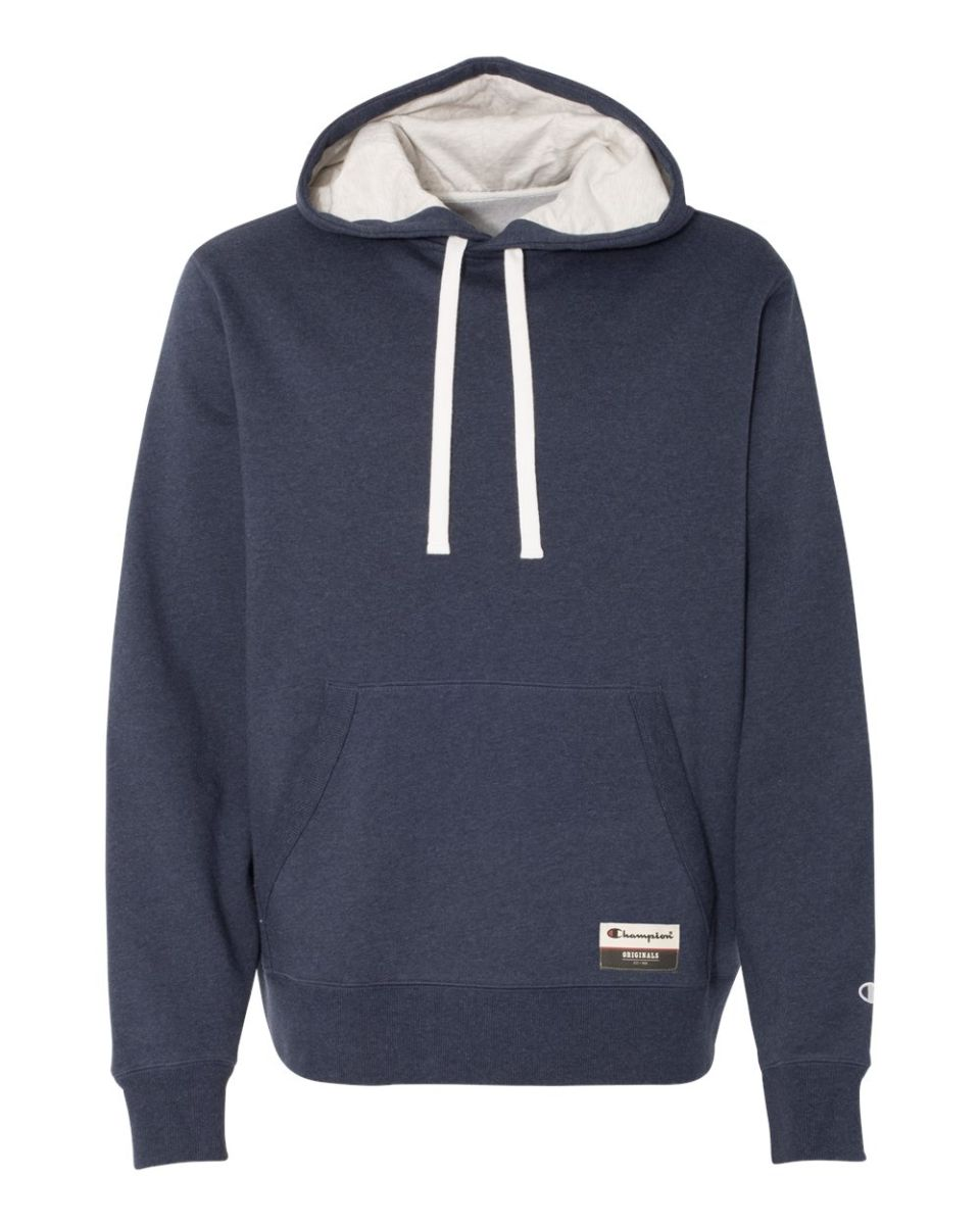 ... Champion AO600 Authentic Originals Sueded Fleece Pullover Hood Navy  Heather ... 1306dd017577