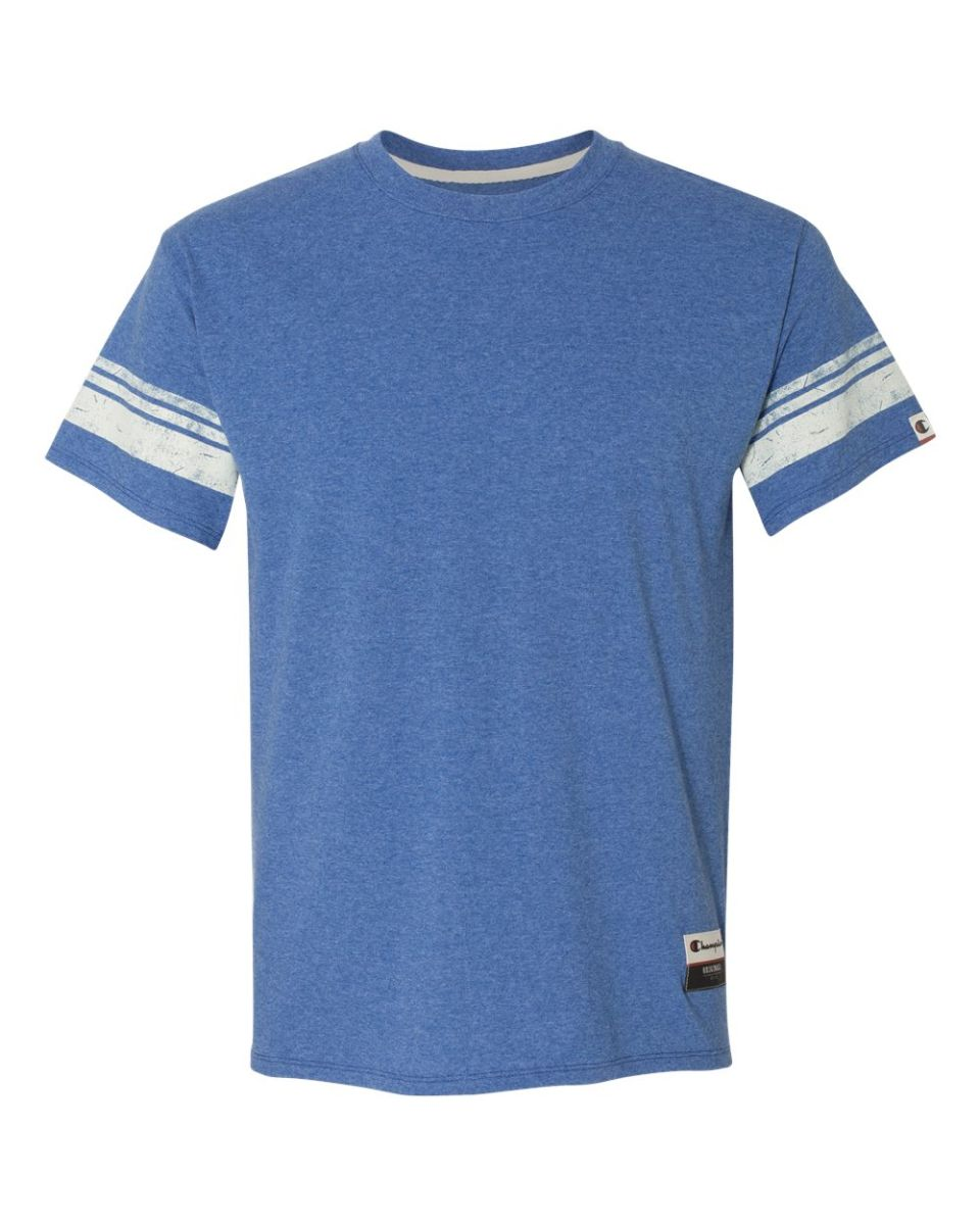 873945ede564 Champion AO300 Authentic Originals Triblend Varsity Tee Athletic Royal  Heather