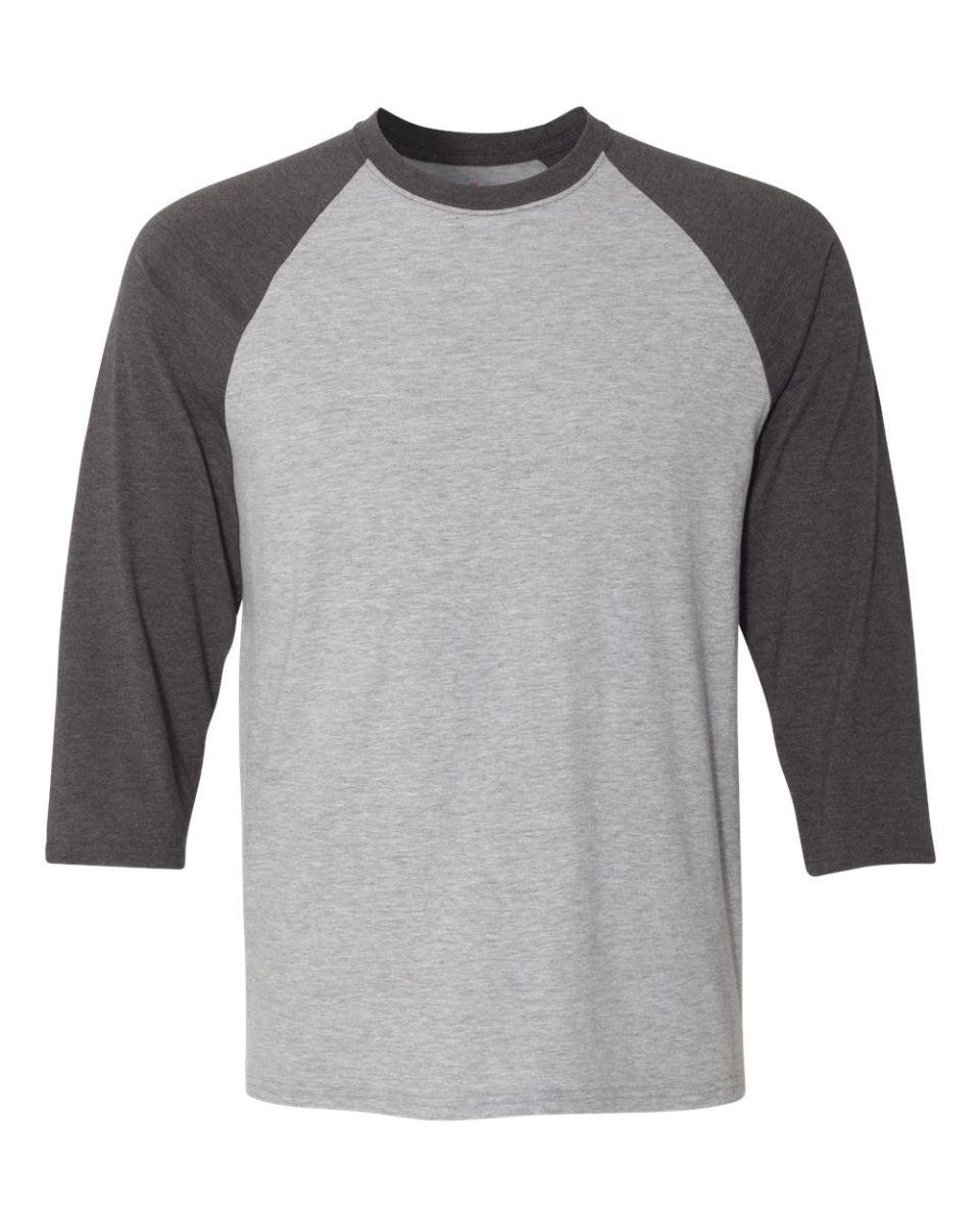 1cfc557a5fc9ee 42BA X-Temp Three-Quarter Sleeve Baseball T-Shirt Light Steel  Charcoal ...