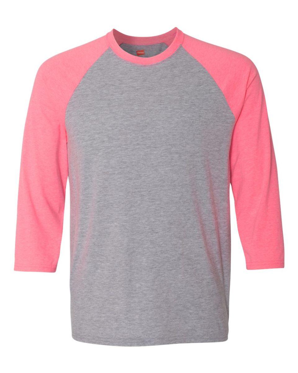 652de3aa86c784 ... 42BA X-Temp Three-Quarter Sleeve Baseball T-Shirt Light Steel  Neon ...
