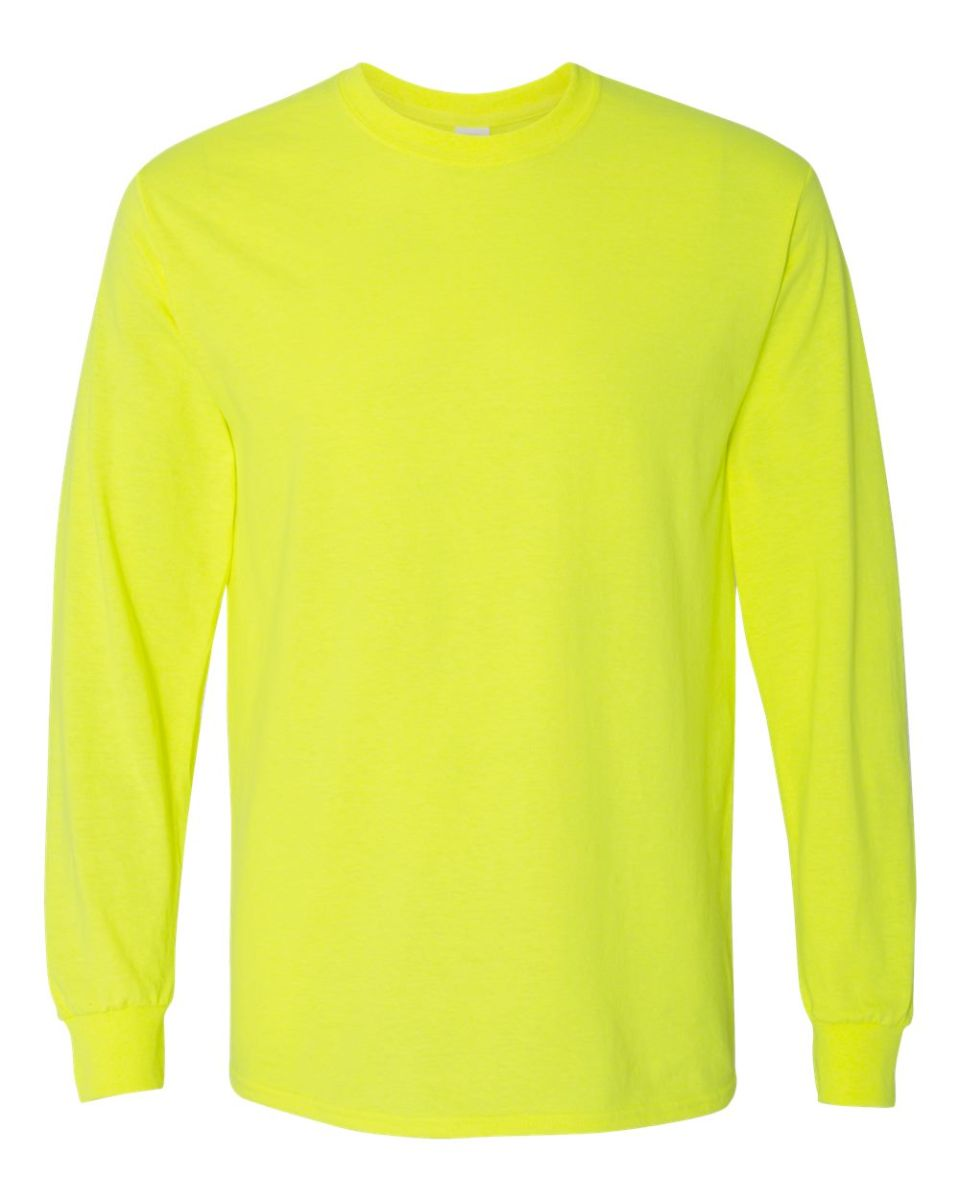 94733e70c13b ... 5400 Gildan Adult Heavy Cotton Long-Sleeve T-Shirt SAFETY GREEN ...