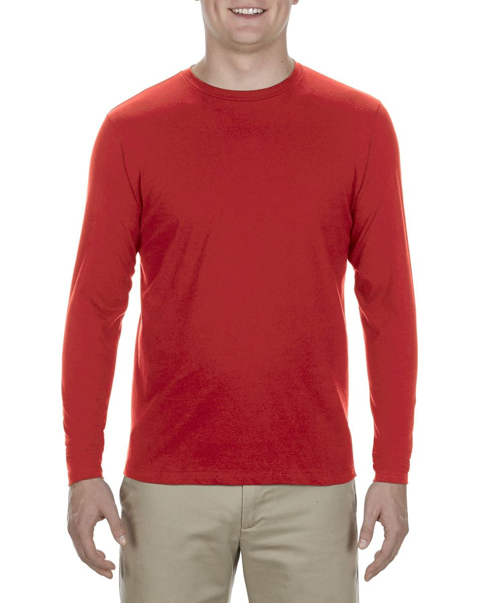 510b80e49f7e ... 5304 Alstyle Adult Long Sleeve T-shirt Red ...