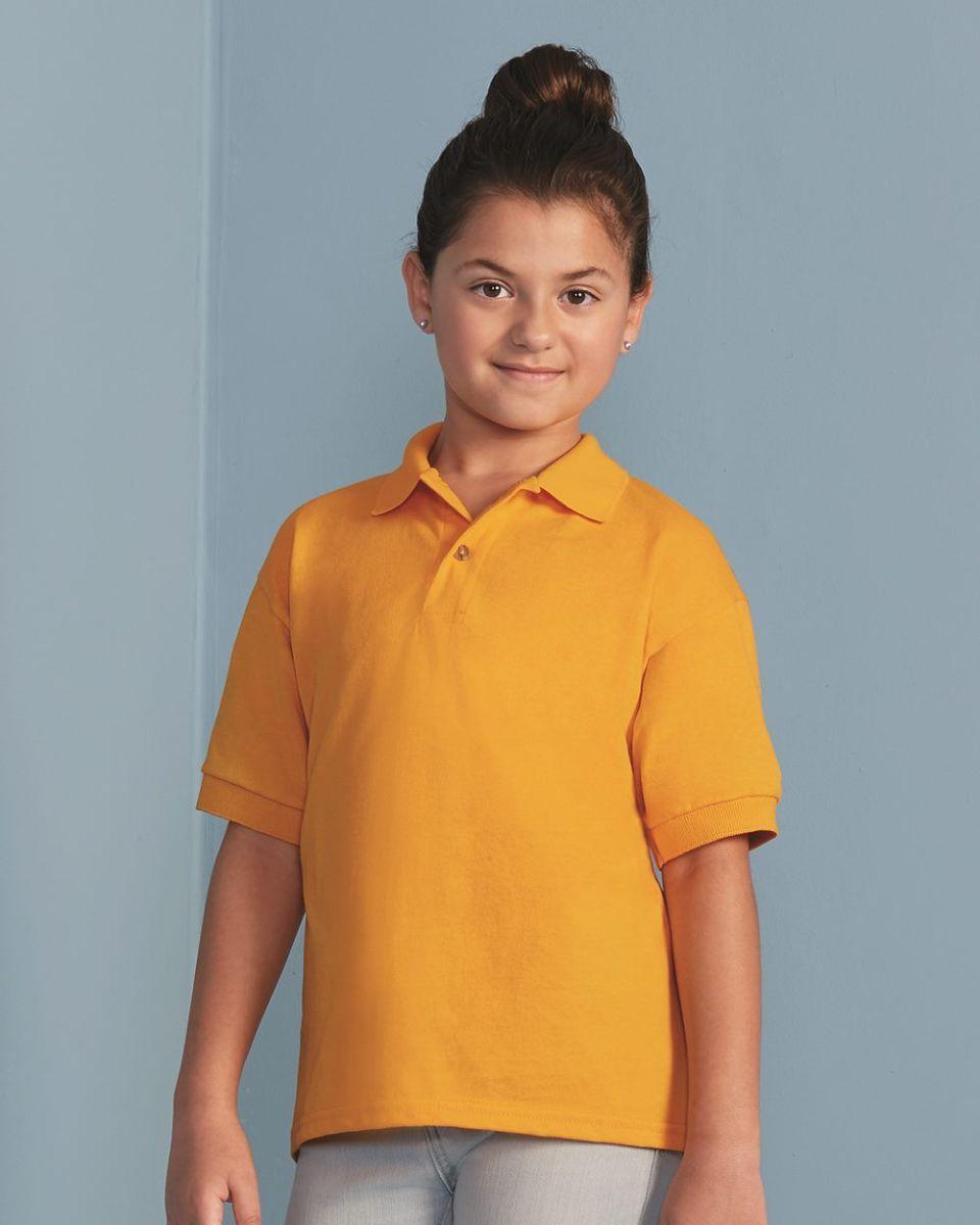 8eddc756a10 8800B Gildan Youth 5.6 oz. Ultra Blend® 50/50 Jersey Polo