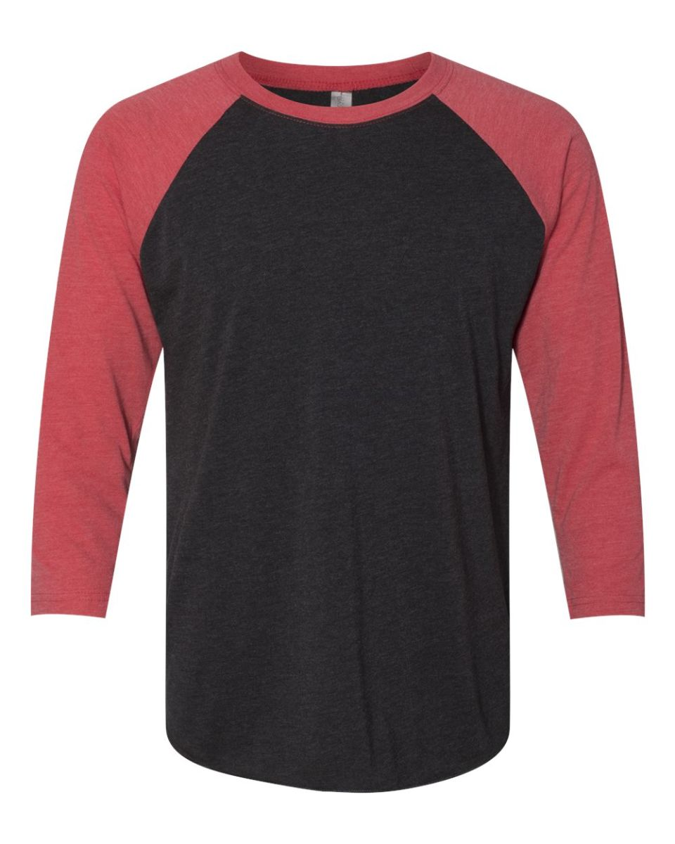 c9e6d0e0570 ... HTR Next Level 6051 Unisex Tri-Blend 3 4 Sleeve Raglan VIN RED  VIN ...