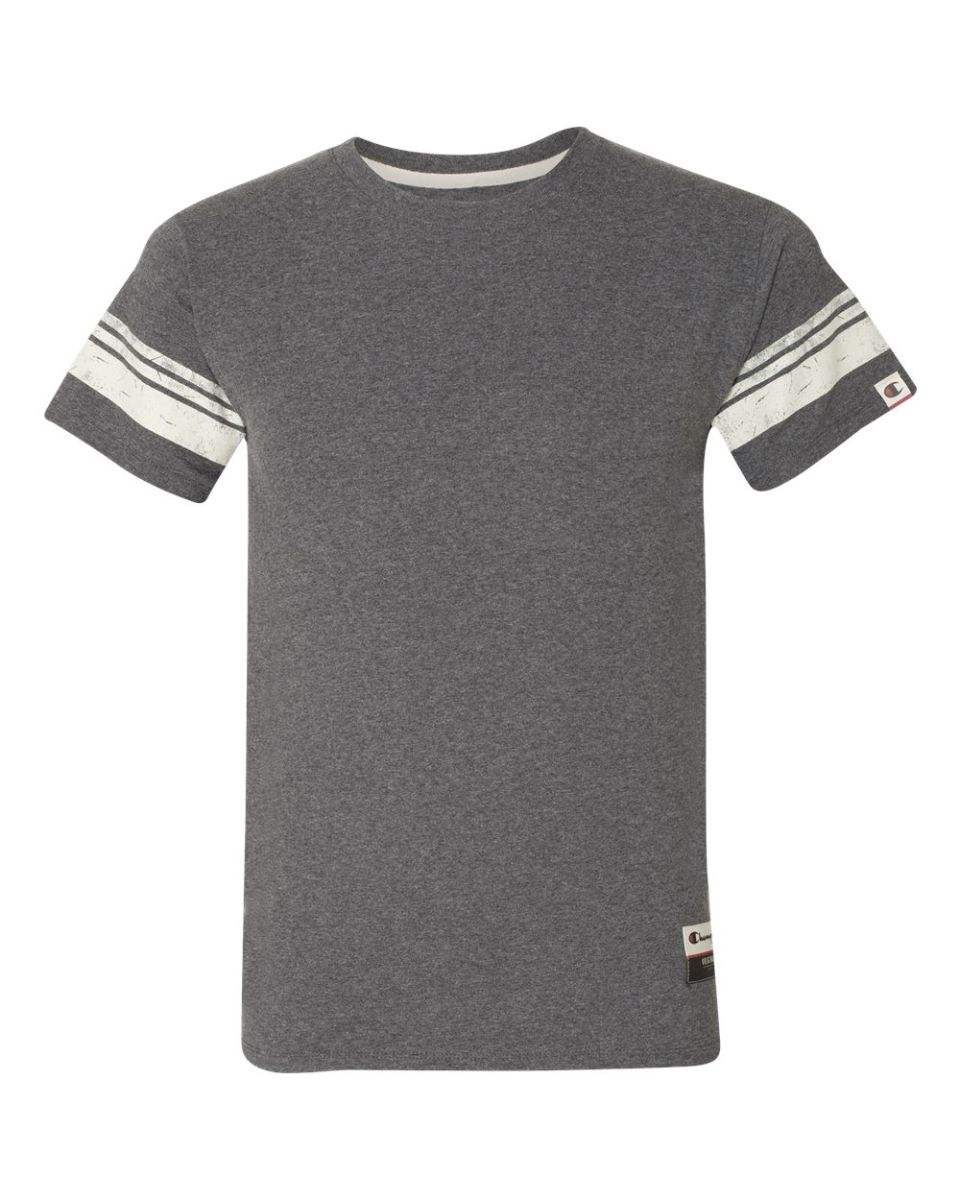 0a6a514e ... Champion AO300 Authentic Originals Triblend Varsity Tee Charcoal Heather