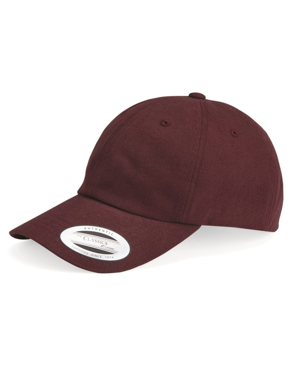dcce7deba1c Yupoong 6245PT Peached Cotton Twill Dad Cap