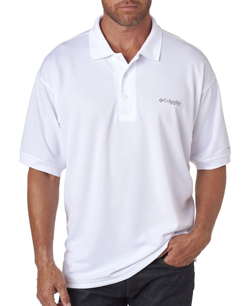 43624216763 Columbia Sportswear 6016 Men's Perfect Cast™ Polo WHITE
