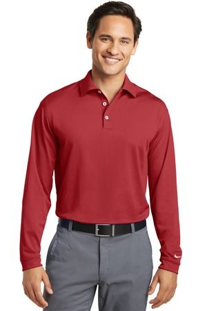 1809754c9ddd ... 604940 Nike Golf Tall Long Sleeve Dri-FIT Stretch Tech Polo Varsity Red  ...