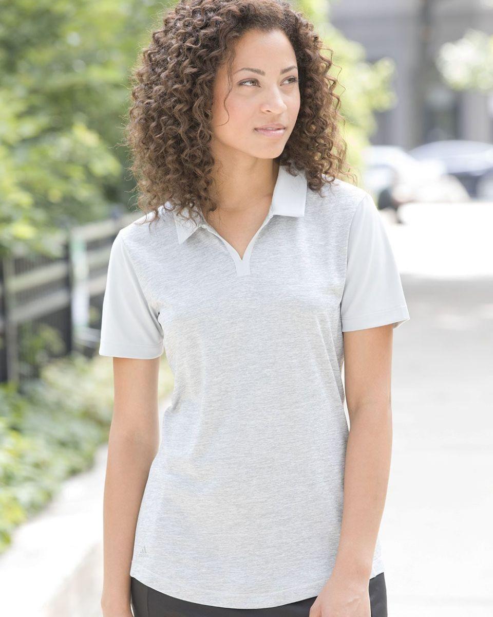 fb6af4bdd Adidas A146 Women's Heather Block Sport Shirt