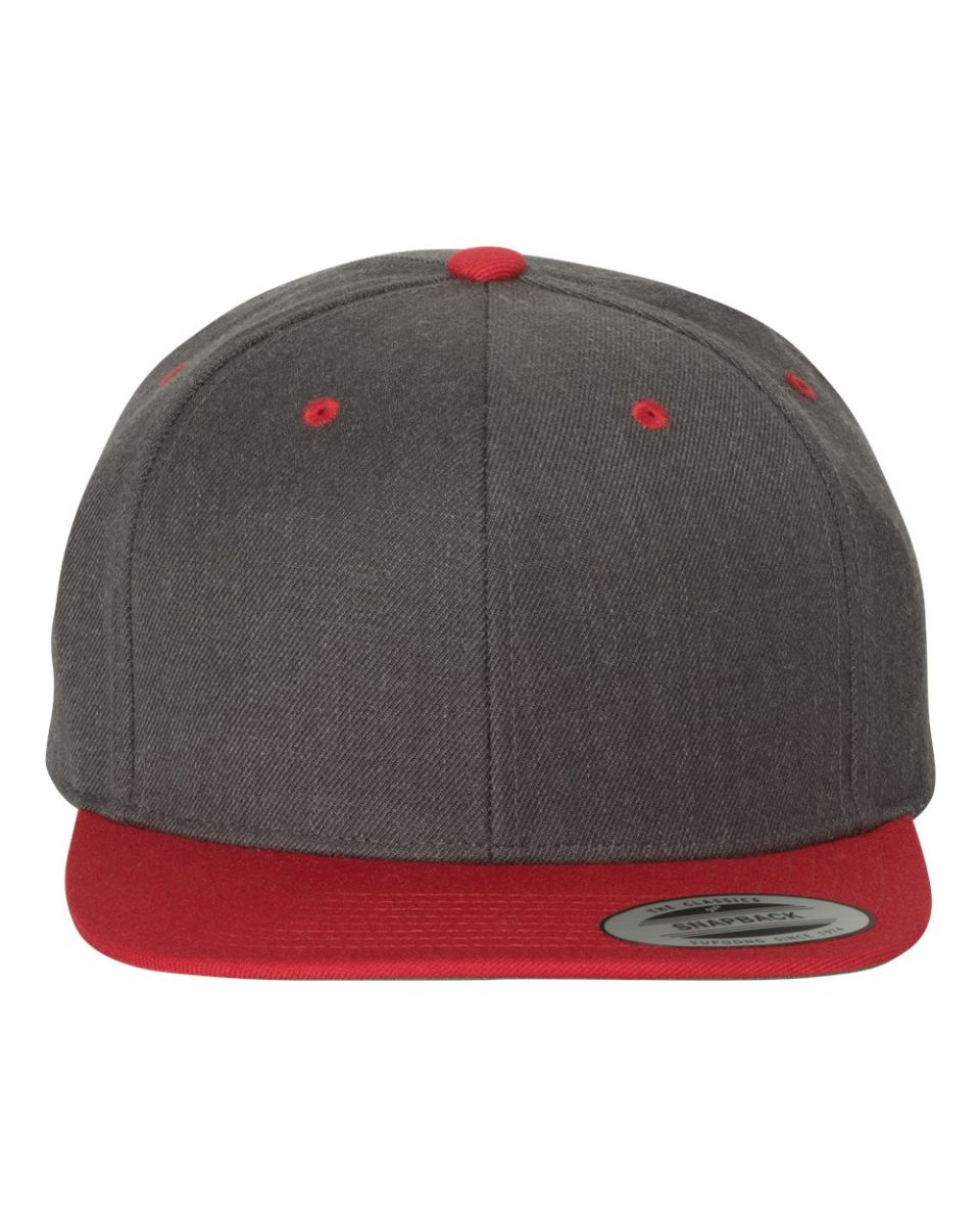 ... 6089M Yupoong Classic Snapback Cap GREEN Under Bill DRK HTHR  RED ... bf119970209