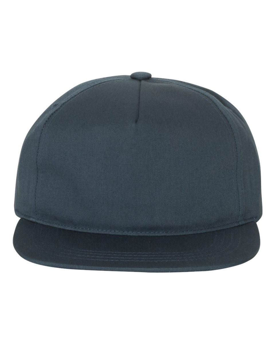 caebcadfb32d3 ... Yupoong-Flex Fit 6502 Unstructured Five-Panel Snapback Cap NAVY ...