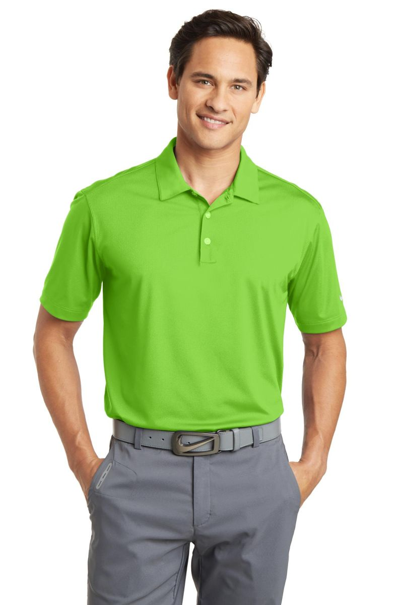 39142977f ... Nike Golf 637167 Dri-FIT Vertical Mesh Polo Action Green ...