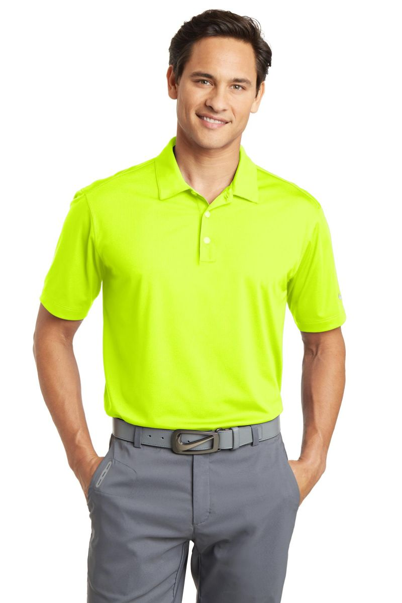 71e0ac58 ... Nike Golf 637167 Dri-FIT Vertical Mesh Polo Volt ...