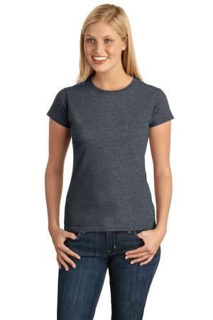 02bd9139 ... 64000L Gildan Ladies 4.5 oz. SoftStyle™ Ringspun T-Shirt DARK HEATHER  ...