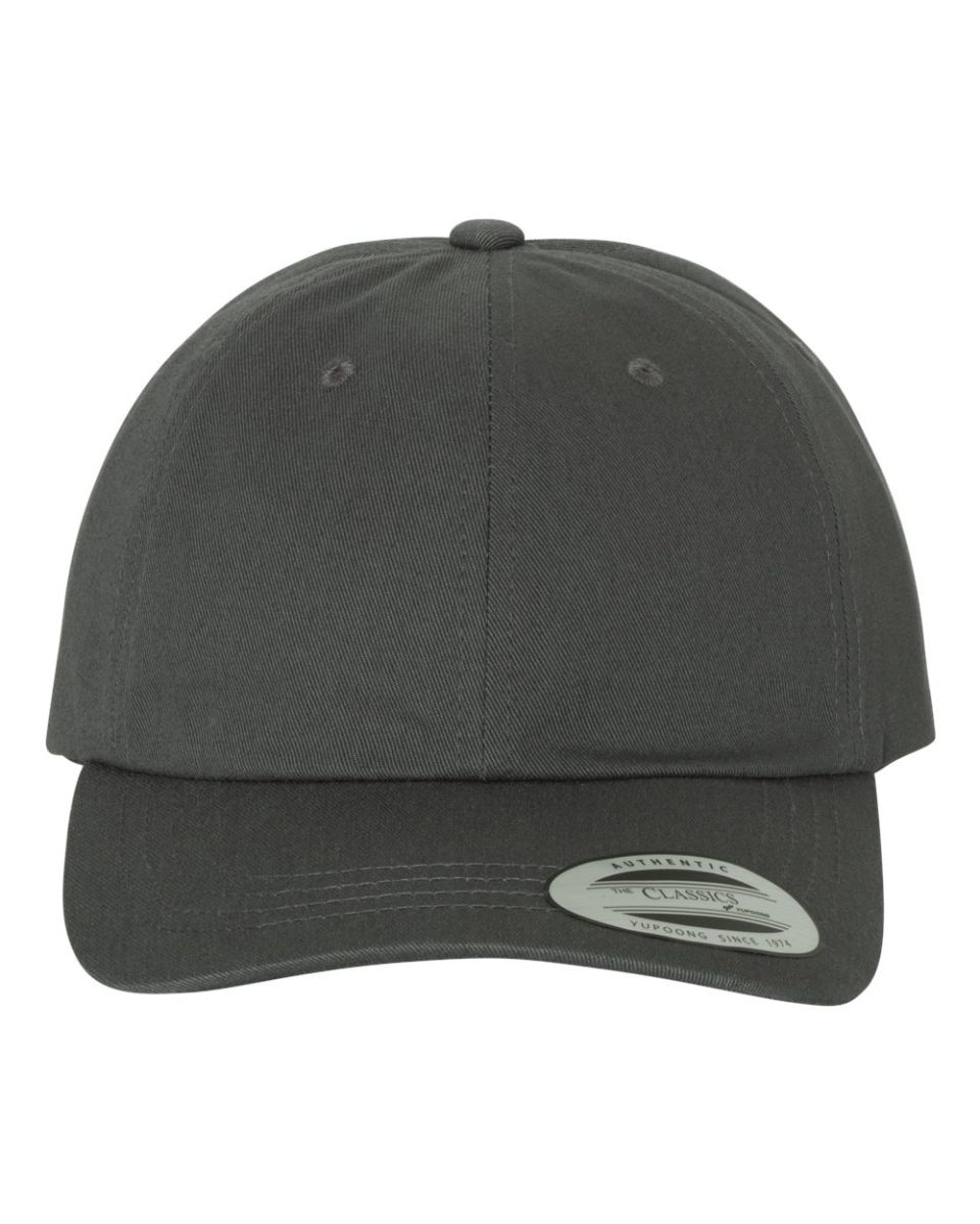 aca9d794abf ... WHITE Yupoong 6245CM Unstructured Classic Dad Hat DARK GREY ...