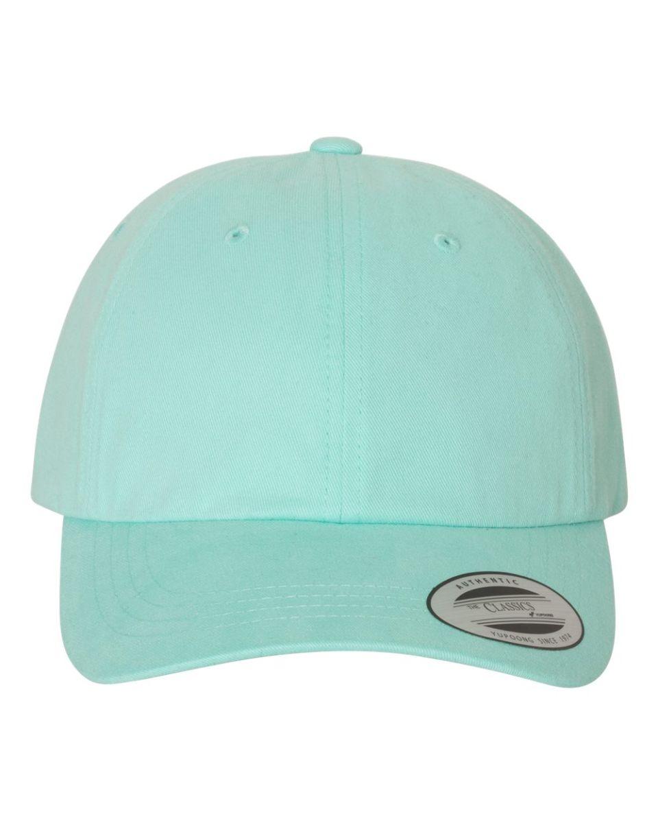 ... Yupoong 6245PT Peached Cotton Twill Dad Cap DIAMOND BLUE ... 77cda74361c6