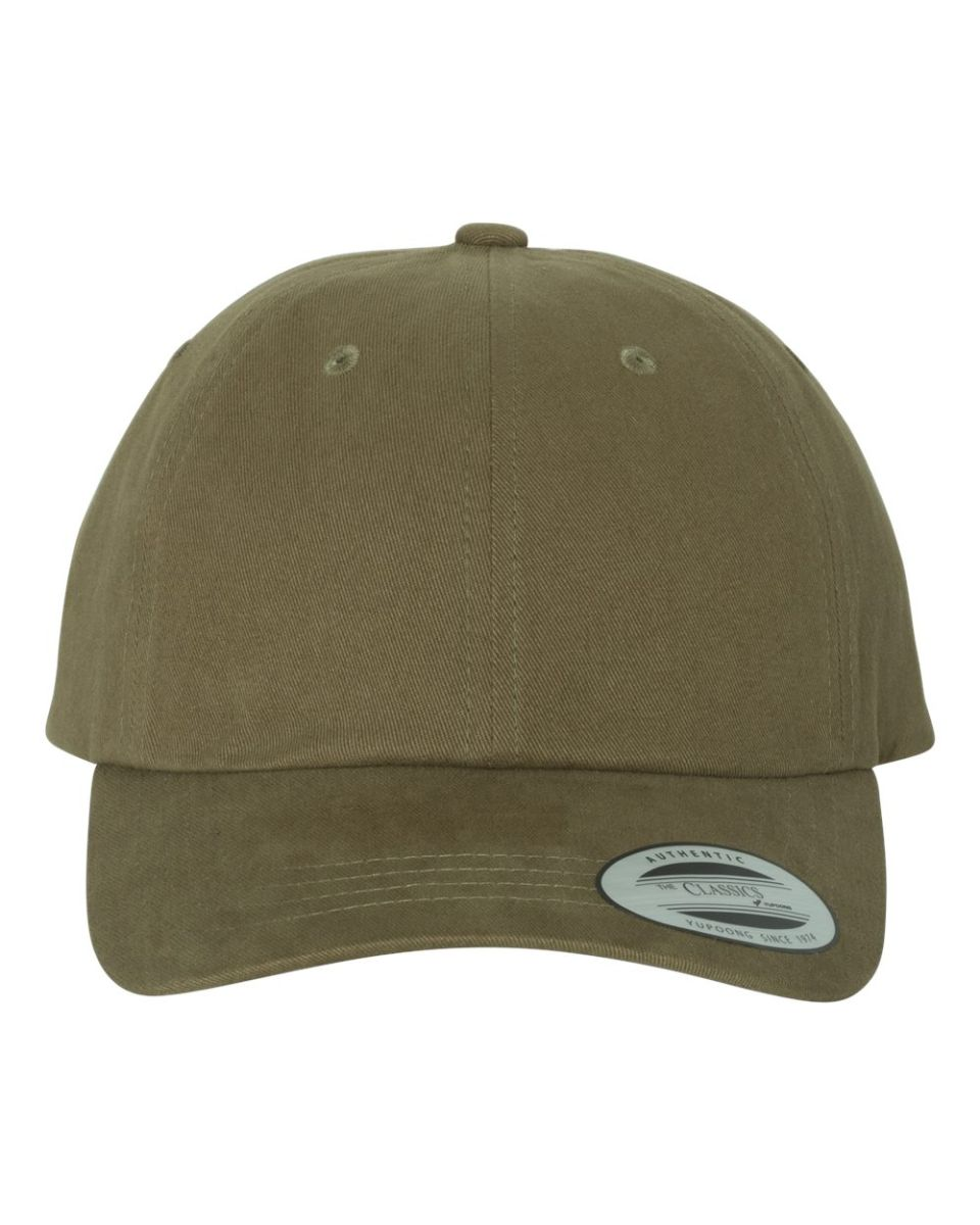 f253b3ab ... Yupoong 6245PT Peached Cotton Twill Dad Cap LIGHT LODEN ...