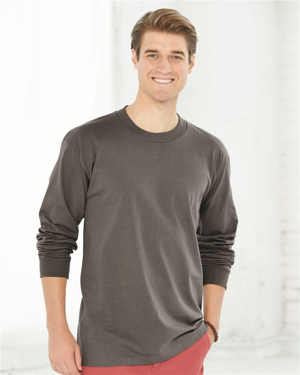 731ebf0b488 6100 Bayside Adult Long-Sleeve Cotton Tee. Style