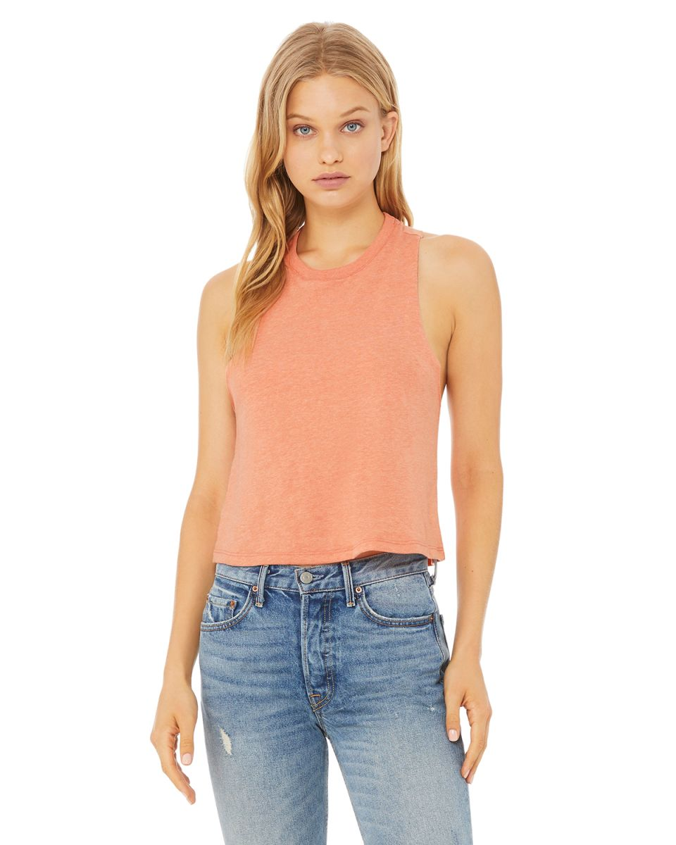 b142c4c97ad7e ... 6682 Women s Racerback Cropped Tank HEATHER SUNSET ...