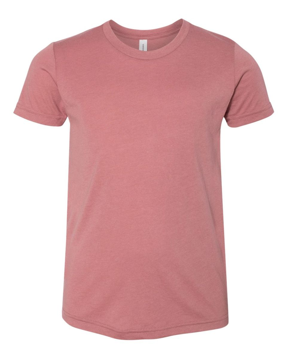 c4b05a8b ... 3413Y Bella + Canvas Youth Triblend Jersey Short Sleeve Tee MAUVE  TRIBLEND ...