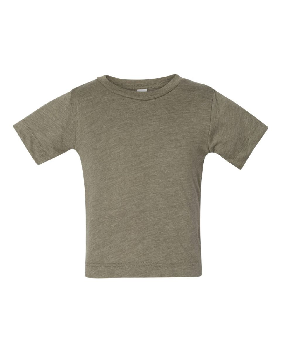 ee1ba85158d ... 3413B Bella + Canvas Triblend Baby Short Sleeve Tee OLIVE TRIBLEND ...