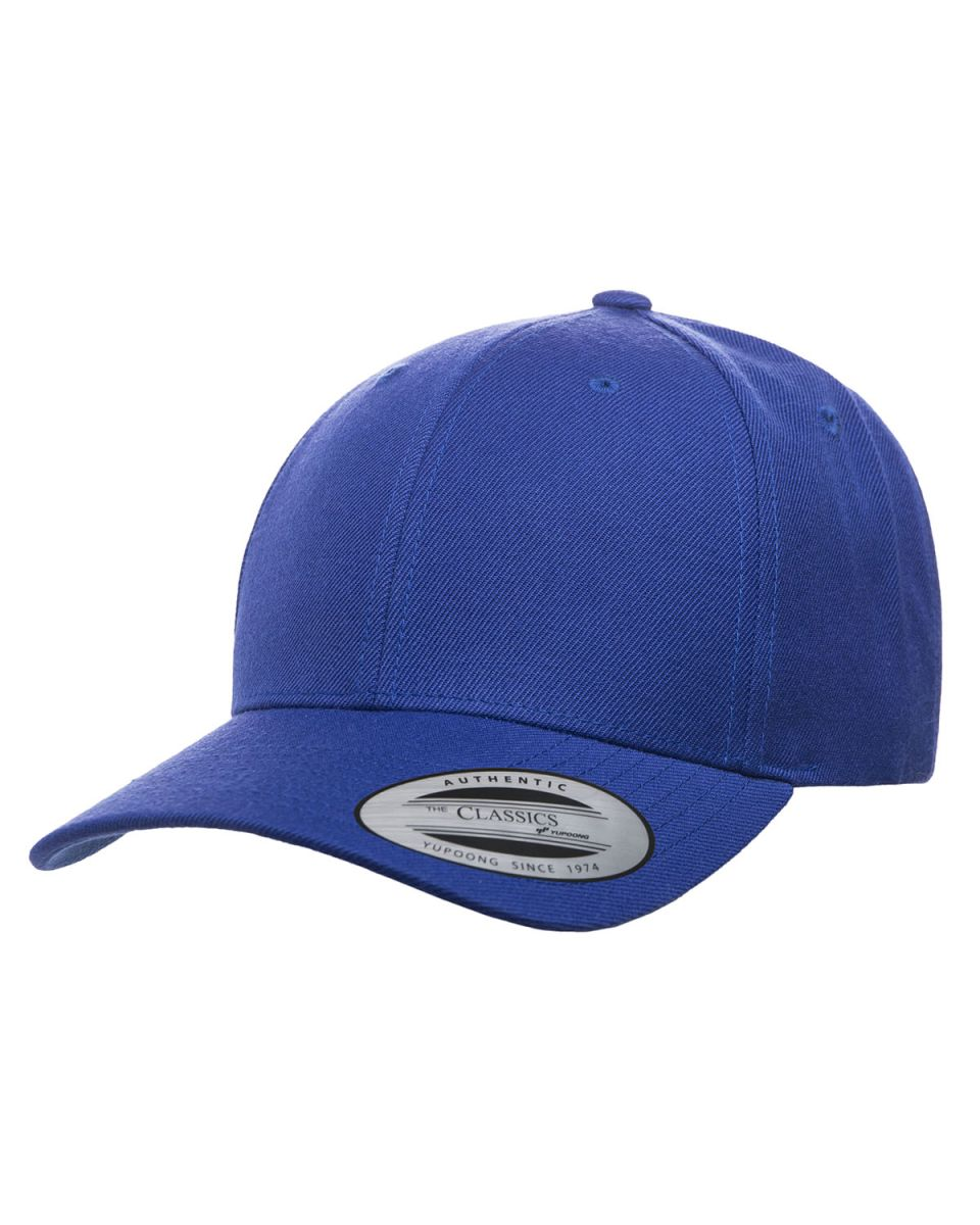 ... Premium Curved Visor Snapback Cap Royal 7d8c5953c7d