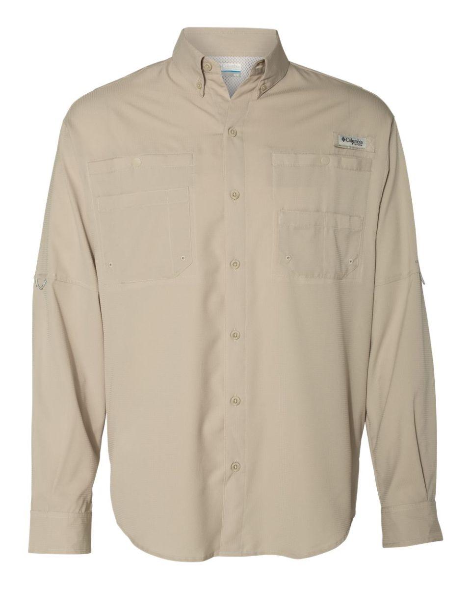 cacfa9f5998 ... Columbia Sportswear 128606 Tamiami™ II Long Sleeve Shirt FOSSIL ...