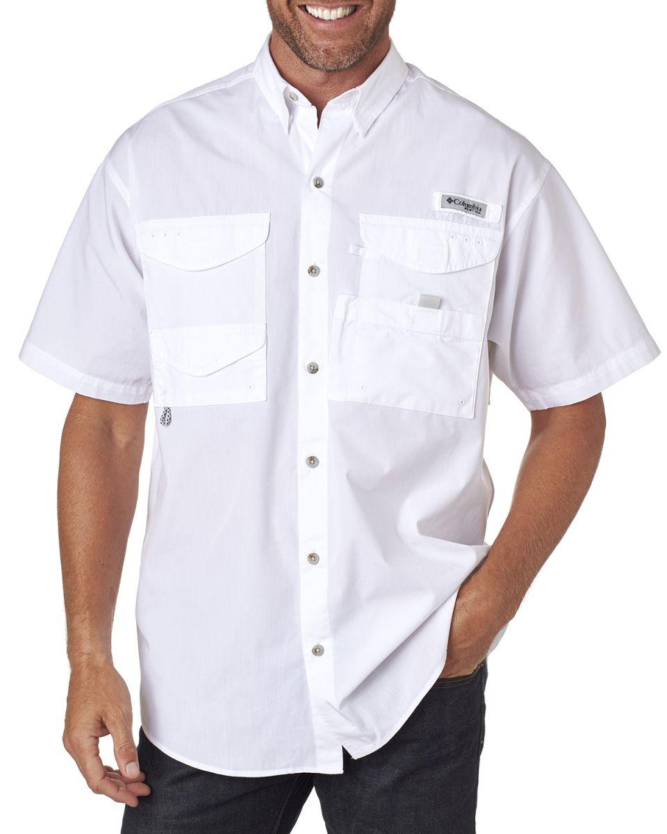 84f4163a639 Columbia Sportswear FM7130 NEW Columbia® - Short Sleeve Bonehead? Fishing  Shirt WHITE