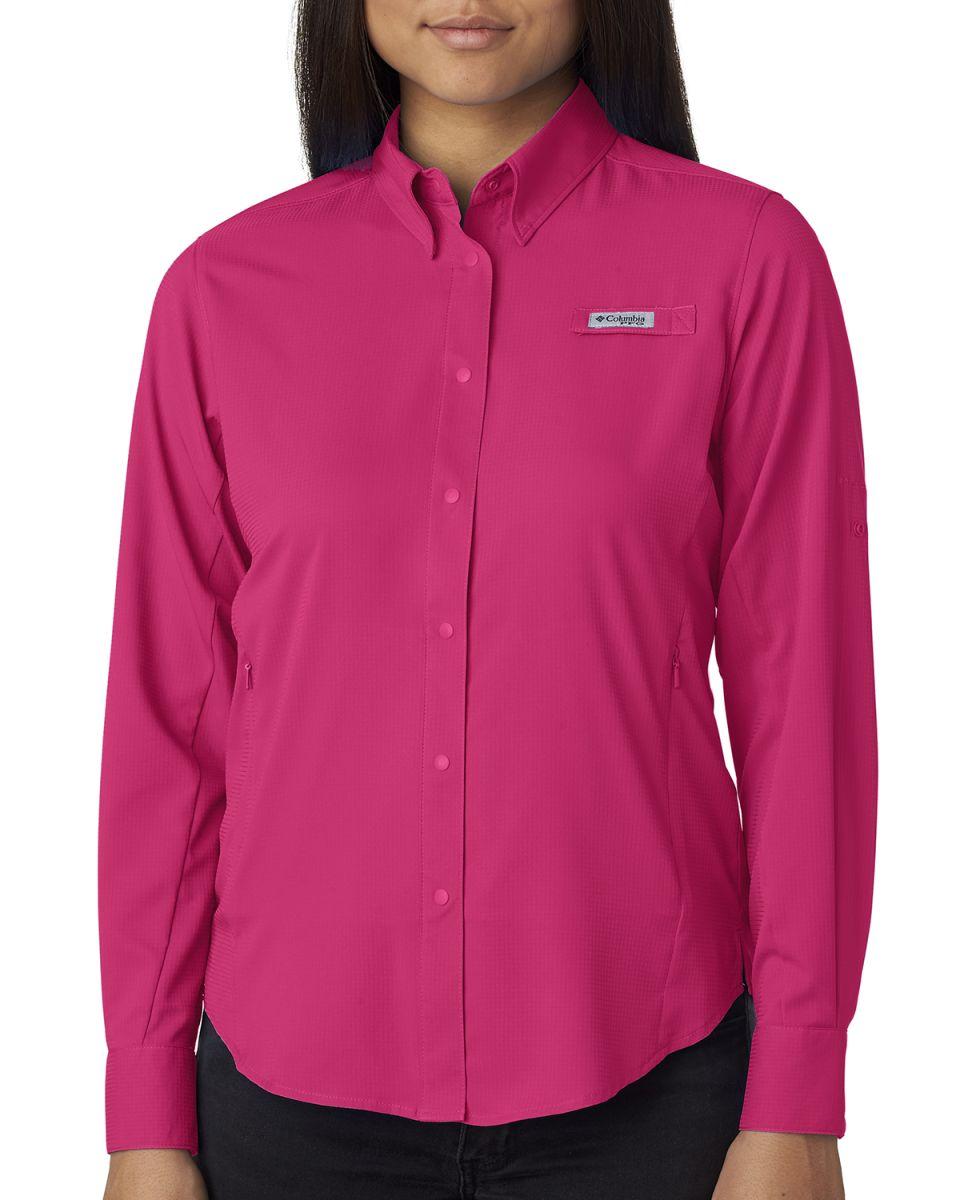 947aa42f492 ... Columbia Sportswear 7278 Ladies' Tamiami™ II Long-Sleeve Shirt BRIGHT  ROSE ...
