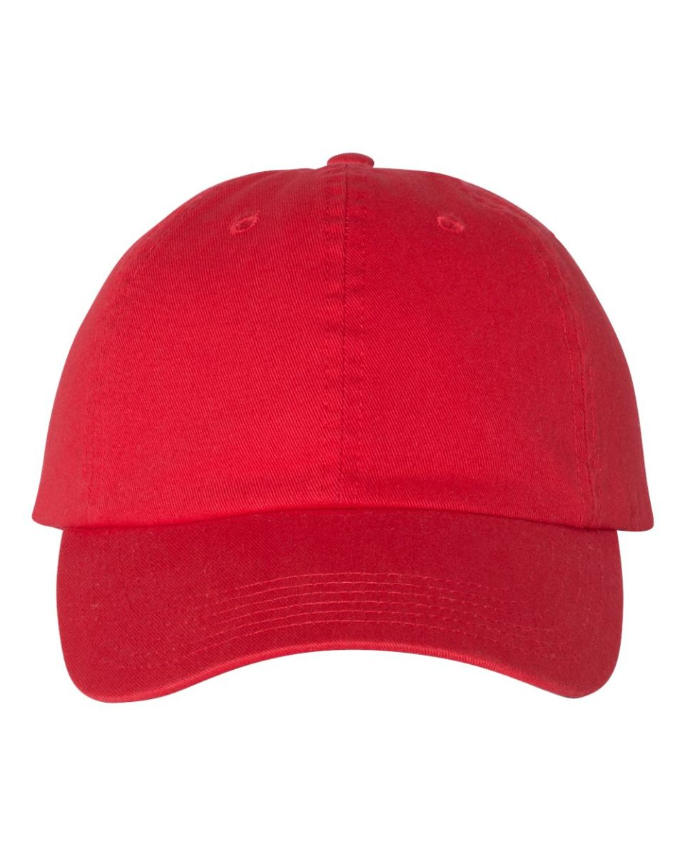 0863a2d9aacaf ... Champion Clothing CS4000 Washed Twill Dad Cap Bright Red Scarlet ...