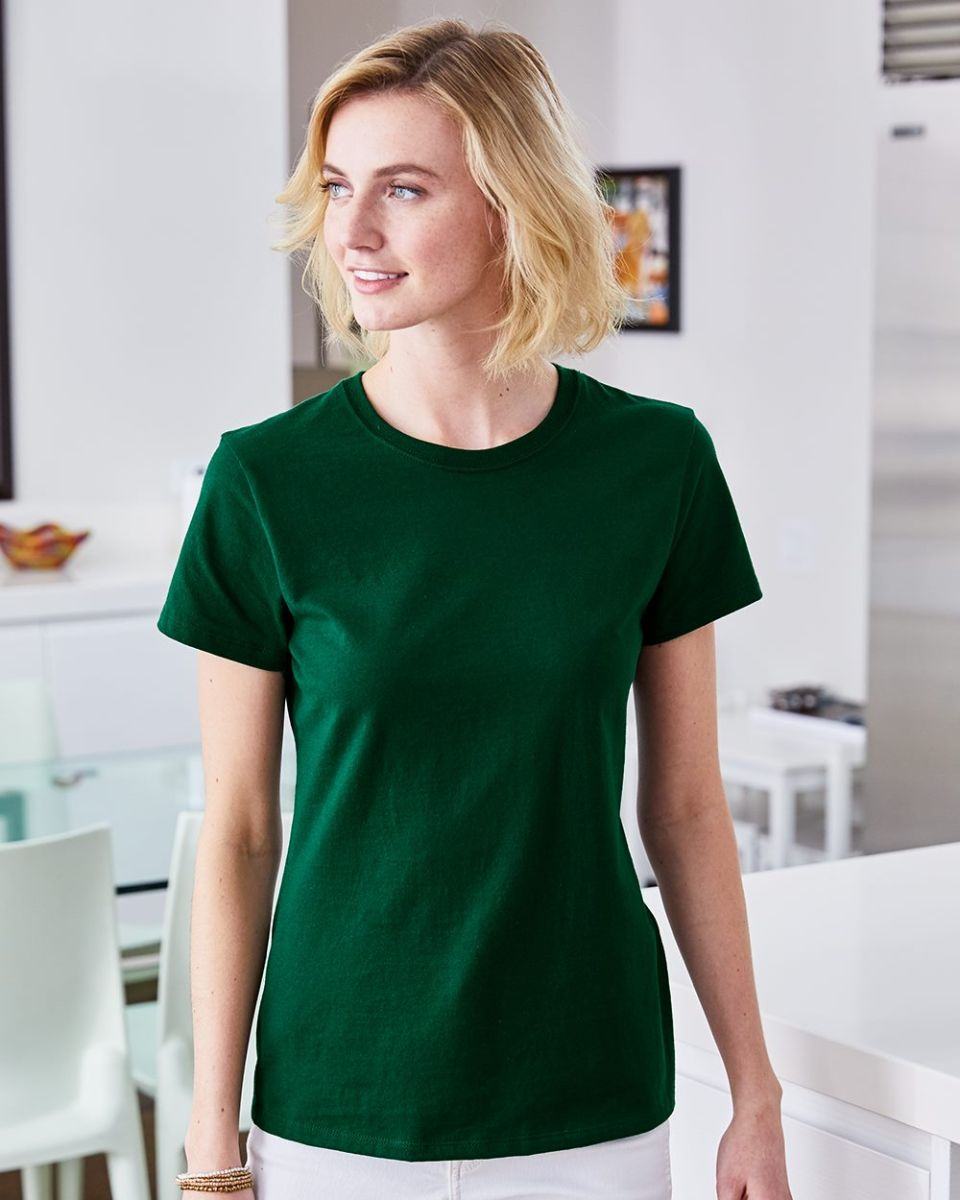 63359e3b Hanes Ladies Nano T Cotton T Shirt SL04