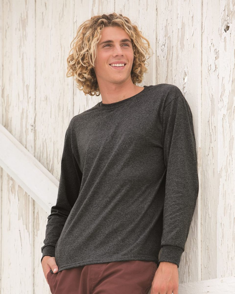 9a4ae171 4930 Fruit of the Loom® Heavy Cotton HD Long Sleeve T-shirt. Style: