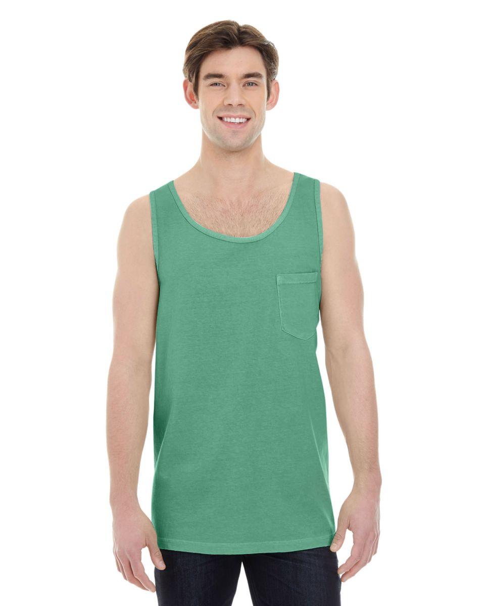 b63854eec3350 ... 9330 Comfort Colors Adult Pocket Tank Top Island Green ...