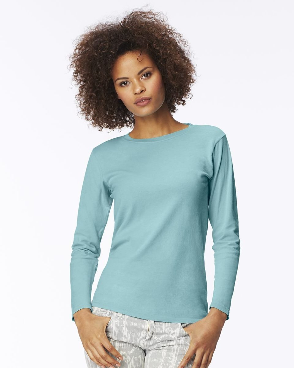 d529eace 3014 Comfort Colors - Pigment-Dyed Ladies' Long Sleeve T-Shirt