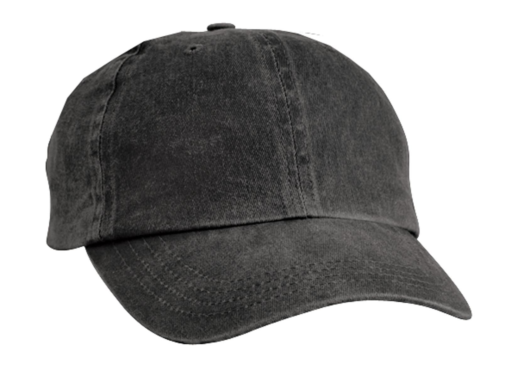 efc18e9db8a55 Port & Company CP84 Pigment-Dyed Dad Hat Black ...