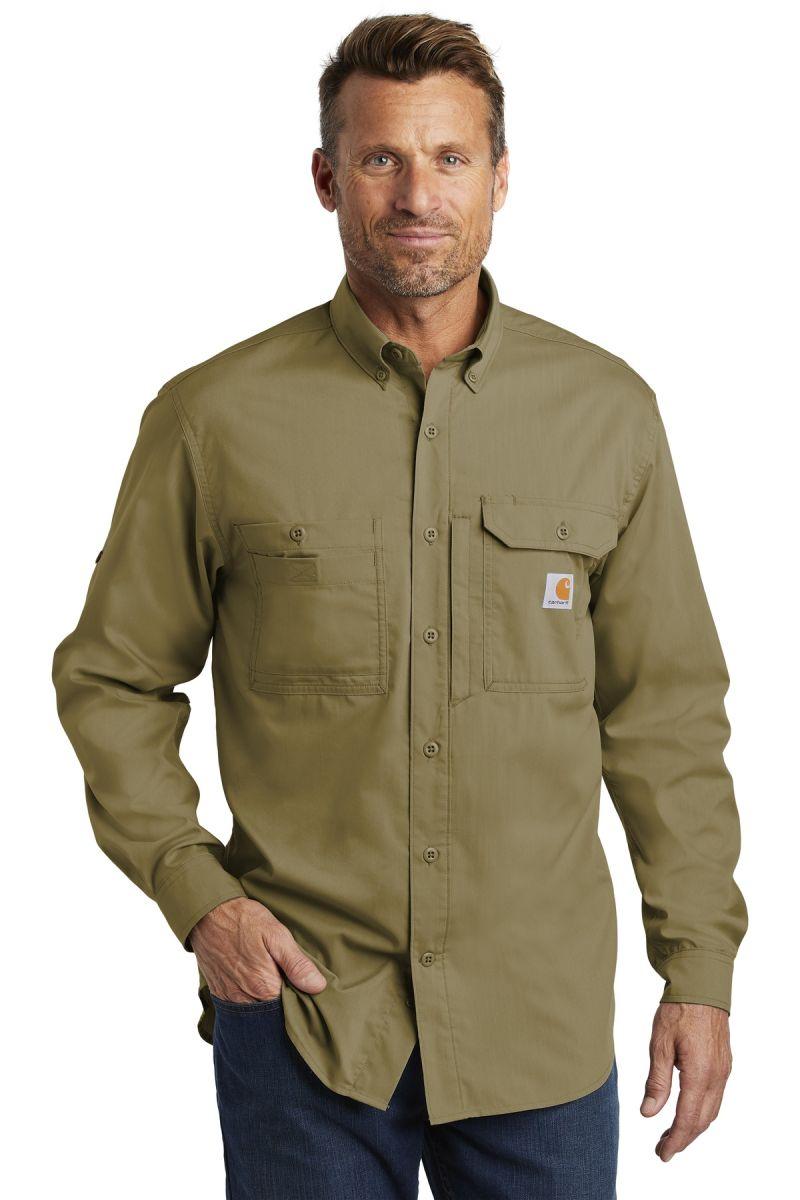 e0c1e3e77f CARHARTT 102418 Carhartt Force Ridgefield Solid Long Sleeve Shirt
