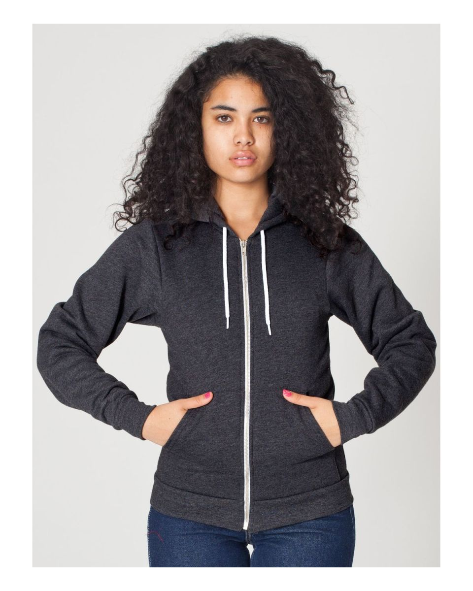 dfc4a04d8ed ... F497 American Apparel Flex Fleece Zip Hoody Dark Heather Grey ...