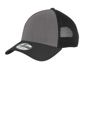 a940af7629af3 ... NE204 New Era® - Snapback Contrast Front Mesh Cap Charcoal Black ...