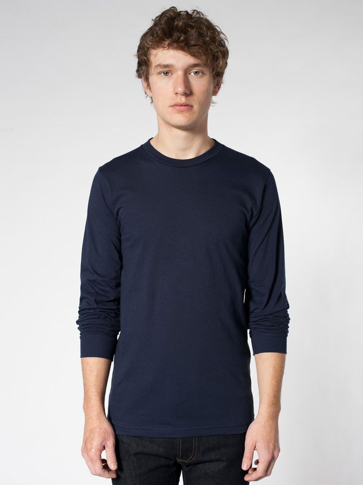 5c0fbcf598 2007 American Apparel Fine Jersey Long Sleeve T-Shirt - blankstyle.com