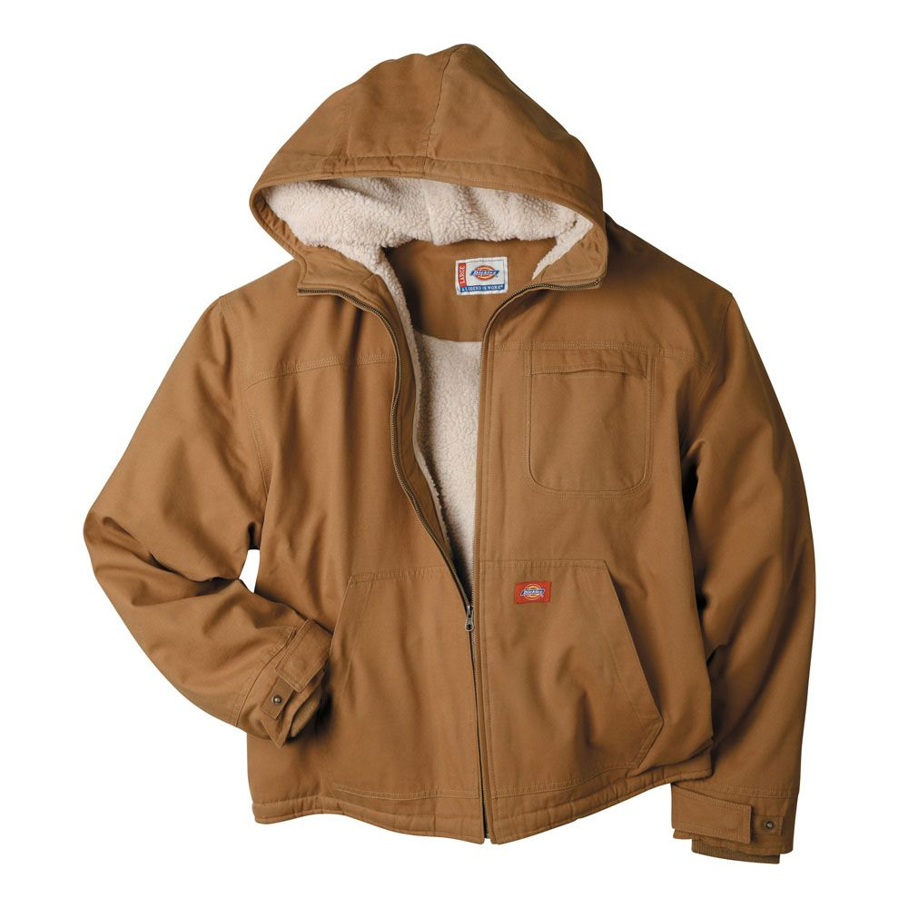 b942511b8f57 TJ350 Dickies Duck Sherpa Lined Hooded Jacket