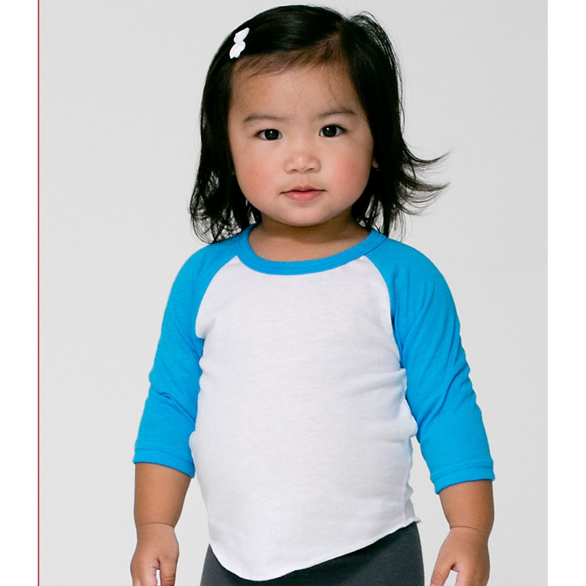94a9a24f5 BB053 American Apparel Infant Poly-Cotton 3/4 Sleeve Raglan