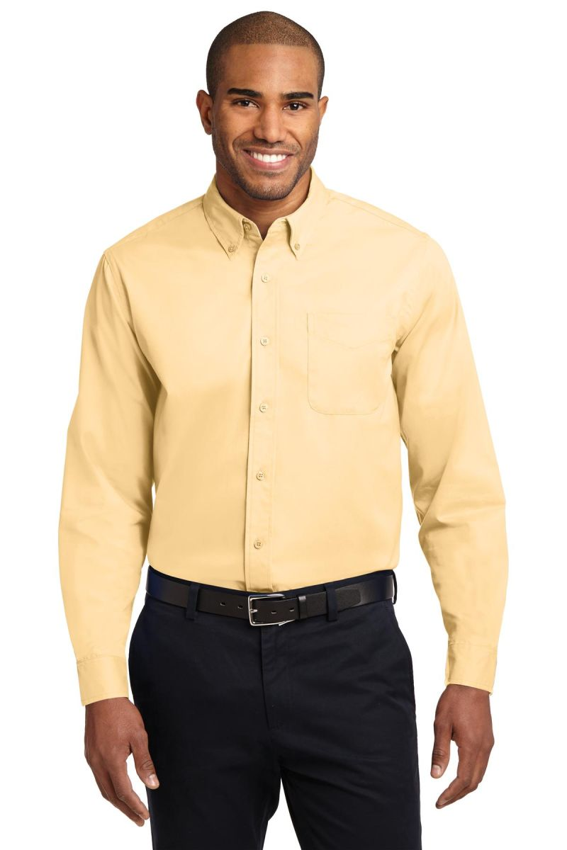 5be06b34 ... Port Authority Long Sleeve Easy Care Shirt S608 Yellow ...