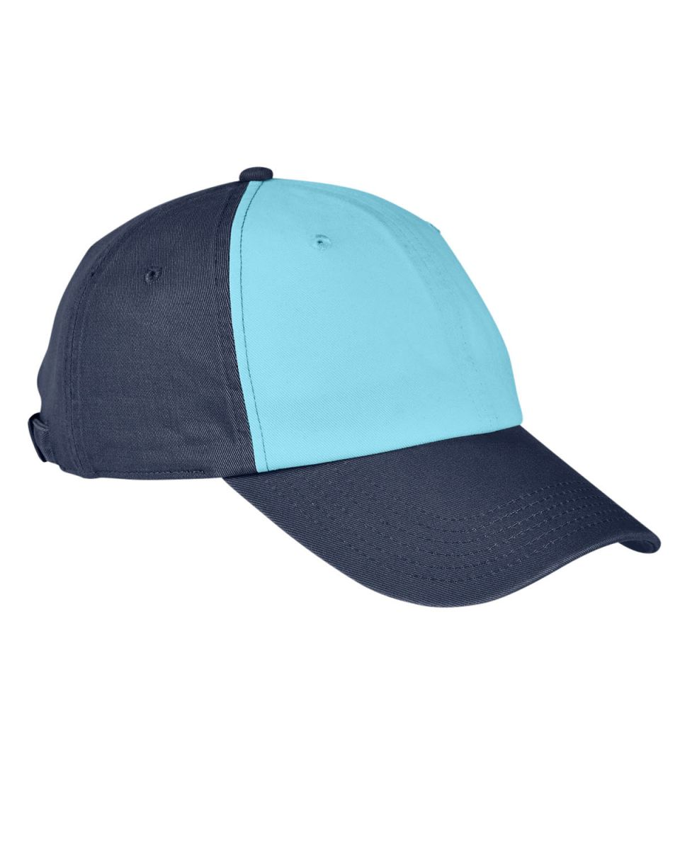6d0fd0a2d2b59f Big Accessories BA650 100% Washed Cotton Twill Baseball Cap AQUA/ NAVY
