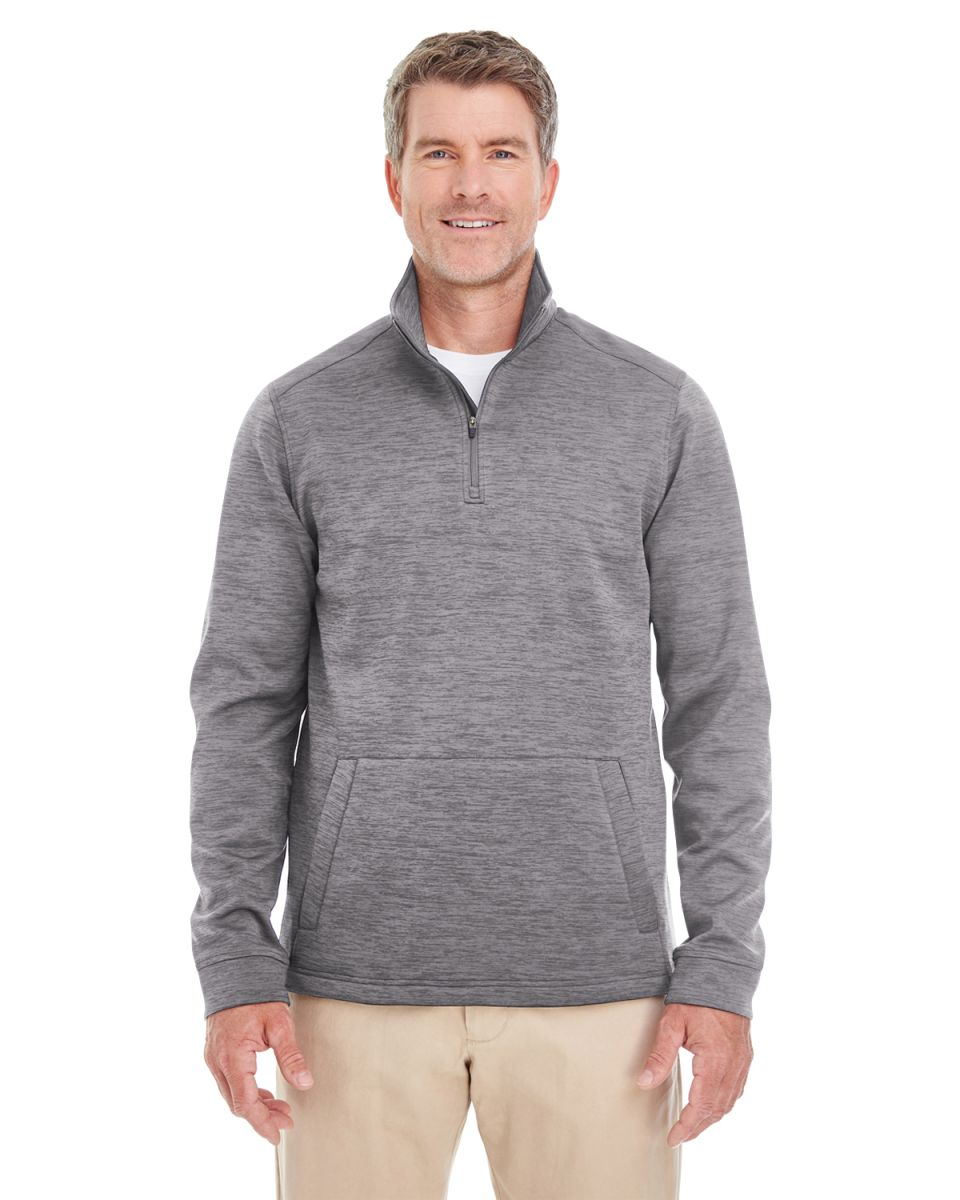 08824889d2f8 DG798 Devon   Jones Men s Newbury Mélange Fleece Quarter-zip DARK GREY  HEATHR
