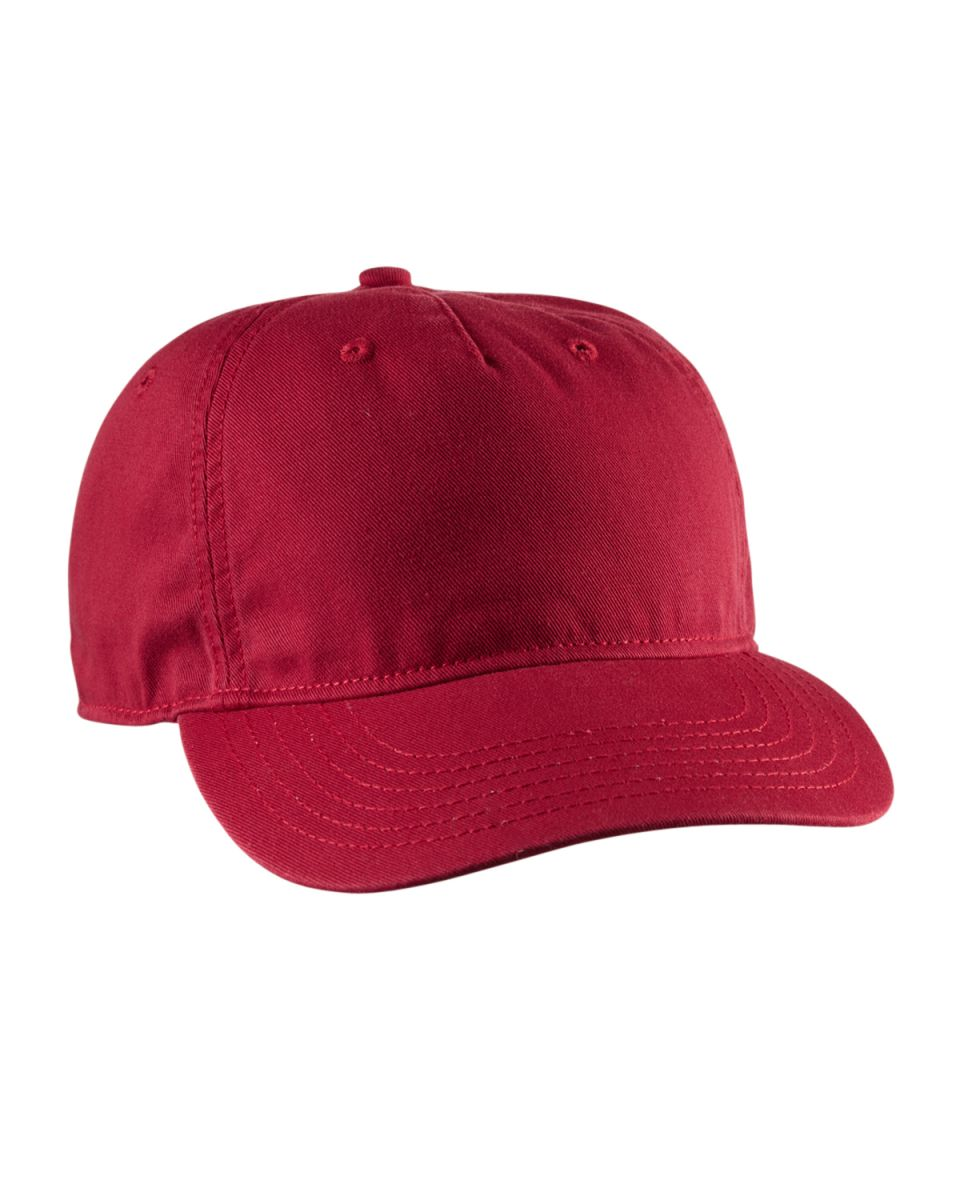 2a1e39dfc83f7 ... econscious EC7087 Twill 5-Panel Unstructured Hat RED ...