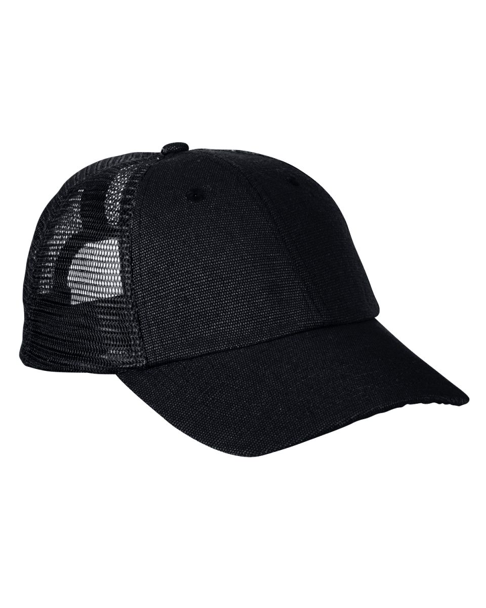 53879de16b0 ... econscious EC7095 6.8 oz. Hemp Washed Soft Mesh Trucker BLACK  BLACK ...