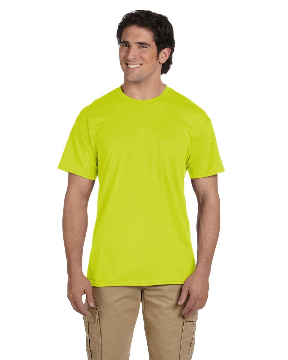 52b9a7cd 50% preshrunk cotton, 50% polyester; double-needle stitching throughout;  taped shoulder-to-shoulder; seamless collar; five-point left-chest pocket;  ...