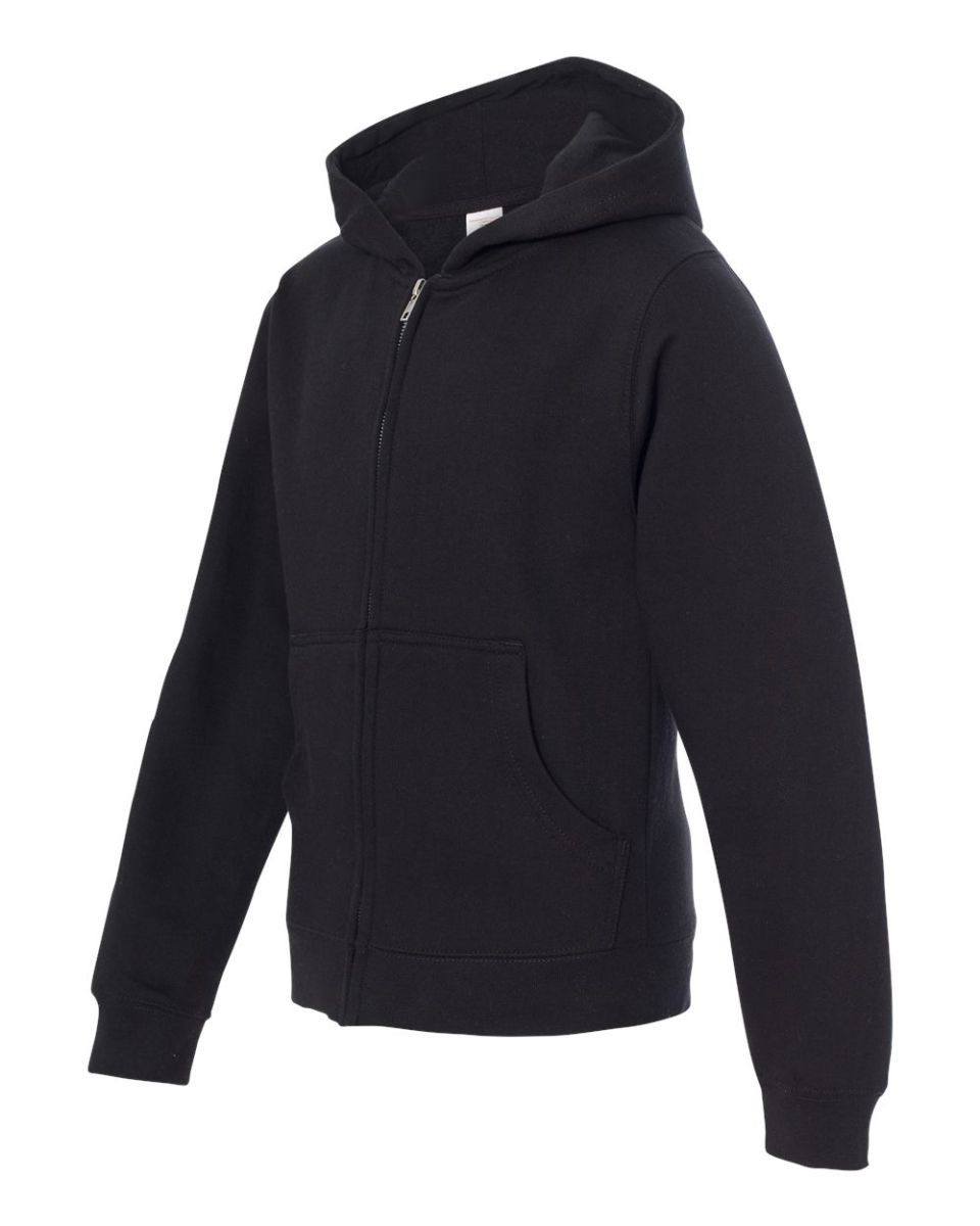 ITC-Youth Midweight Full-Zip Hooded Sweatshirt-SS4001YZ Independent Trading Co
