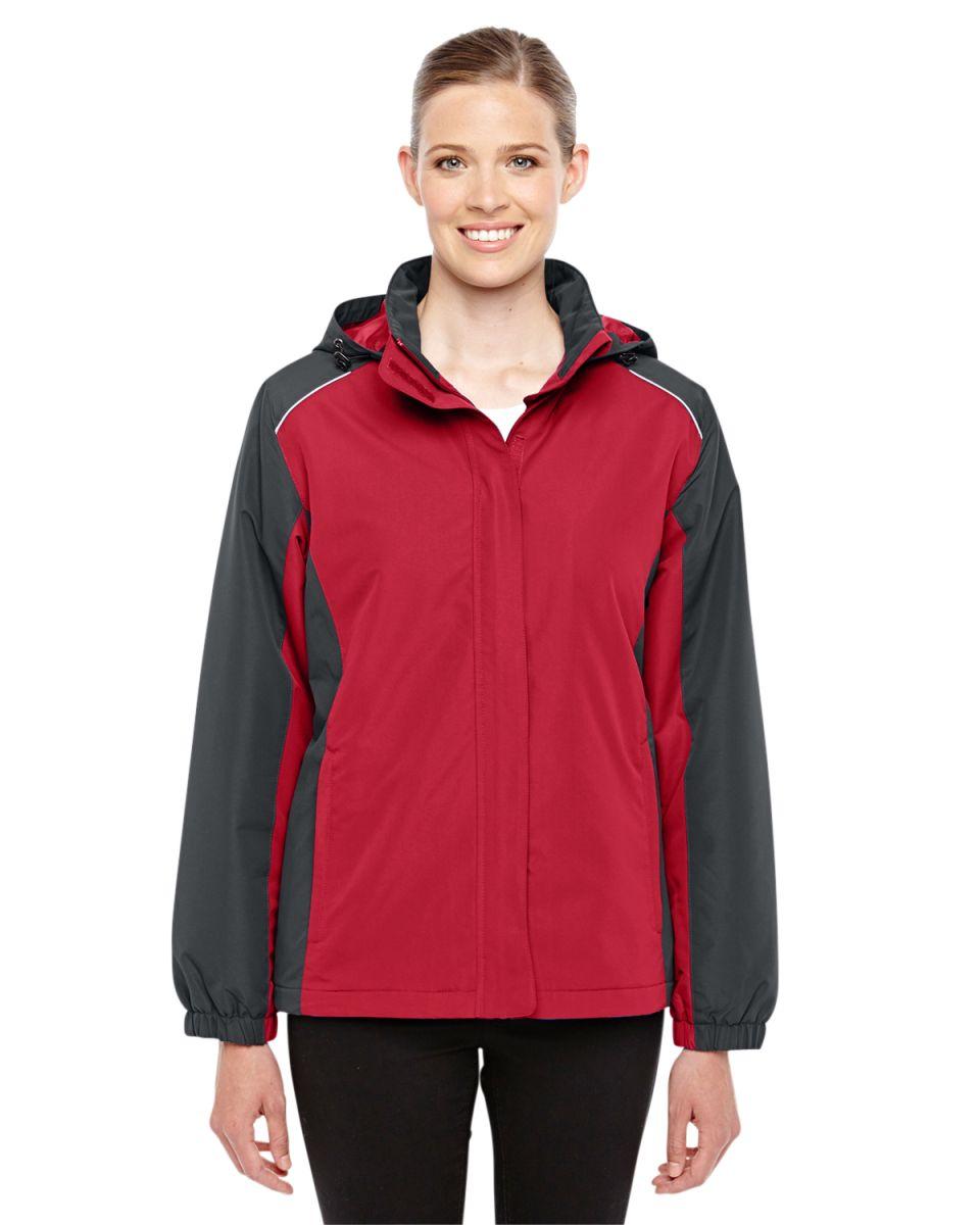 XL 88225 Ash City Mens Inspire Colorblock All-Season Jacket -CL RED// CRBN